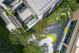 新中式别墅庭院装修效果图