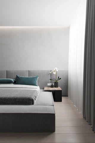 68平高级灰卧室装修效果图