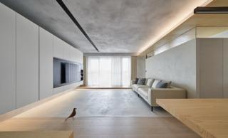 140m²简约现代风客厅装修效果图