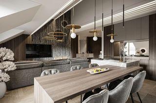 110m²现代轻奢客餐厅装修效果图