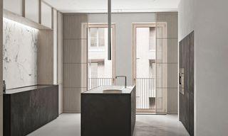 极简风公寓厨房装修效果图