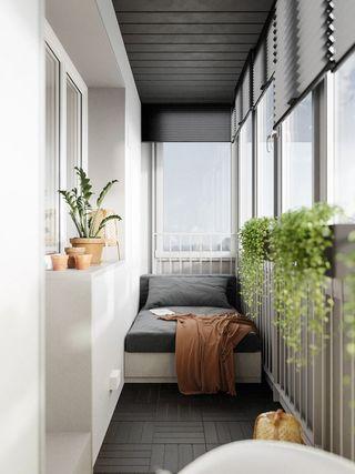 78平现代风阳台装修效果图