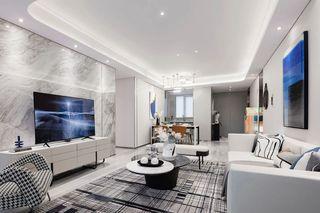 115m²现代轻奢客厅装修效果图