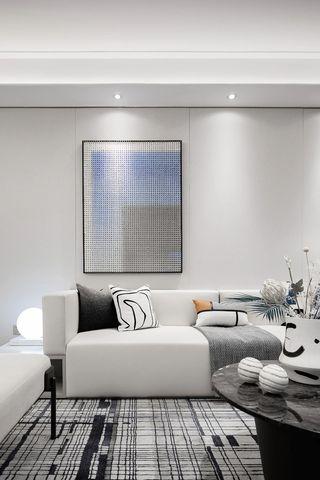 115m²现代轻奢沙发墙装修效果图
