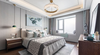 115m²新中式卧室装修效果图