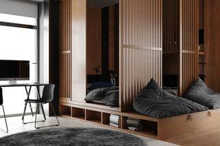 现代简约公寓卧室装修效果图