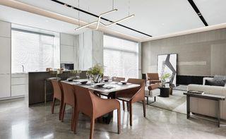 轻奢现代别墅餐厅装修效果图