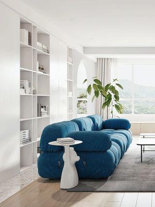 110m²简约风沙发墙装修效果图
