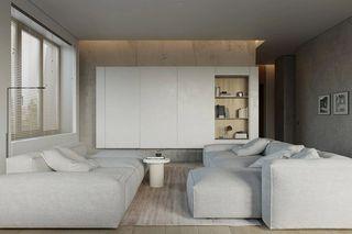 124平极简公寓客厅装修效果图