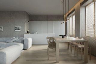 124平极简公寓餐厅装修效果图