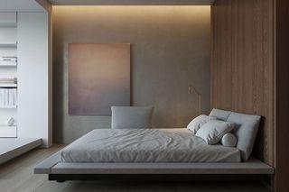 124平极简公寓卧室装修效果图