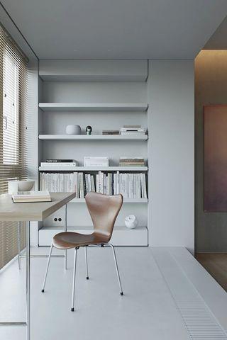124平极简公寓工作区装修效果图
