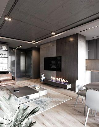 轻工业风公寓客厅装修效果图
