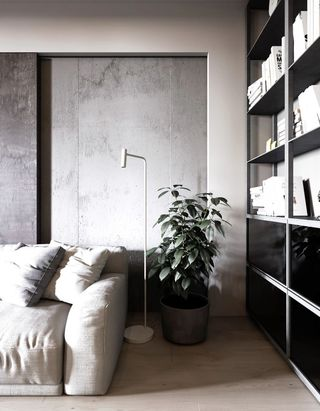 轻工业风公寓装修沙发一角