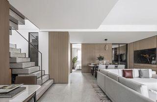 大户型现代简约客厅过道装修效果图