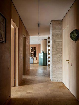 复古风公寓走廊装修效果图
