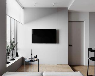 30㎡小户型公寓电视墙装修效果图