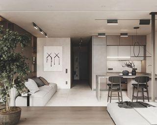 45㎡公寓装修效果图
