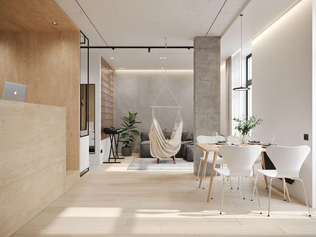 36㎡小公寓客餐厅装修效果图