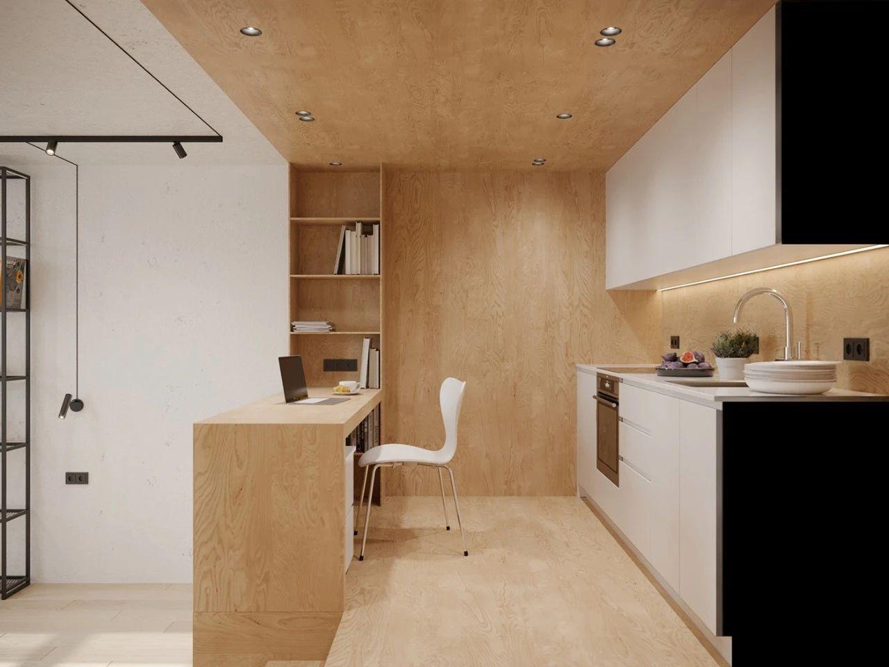 36㎡小公寓厨房装修效果图