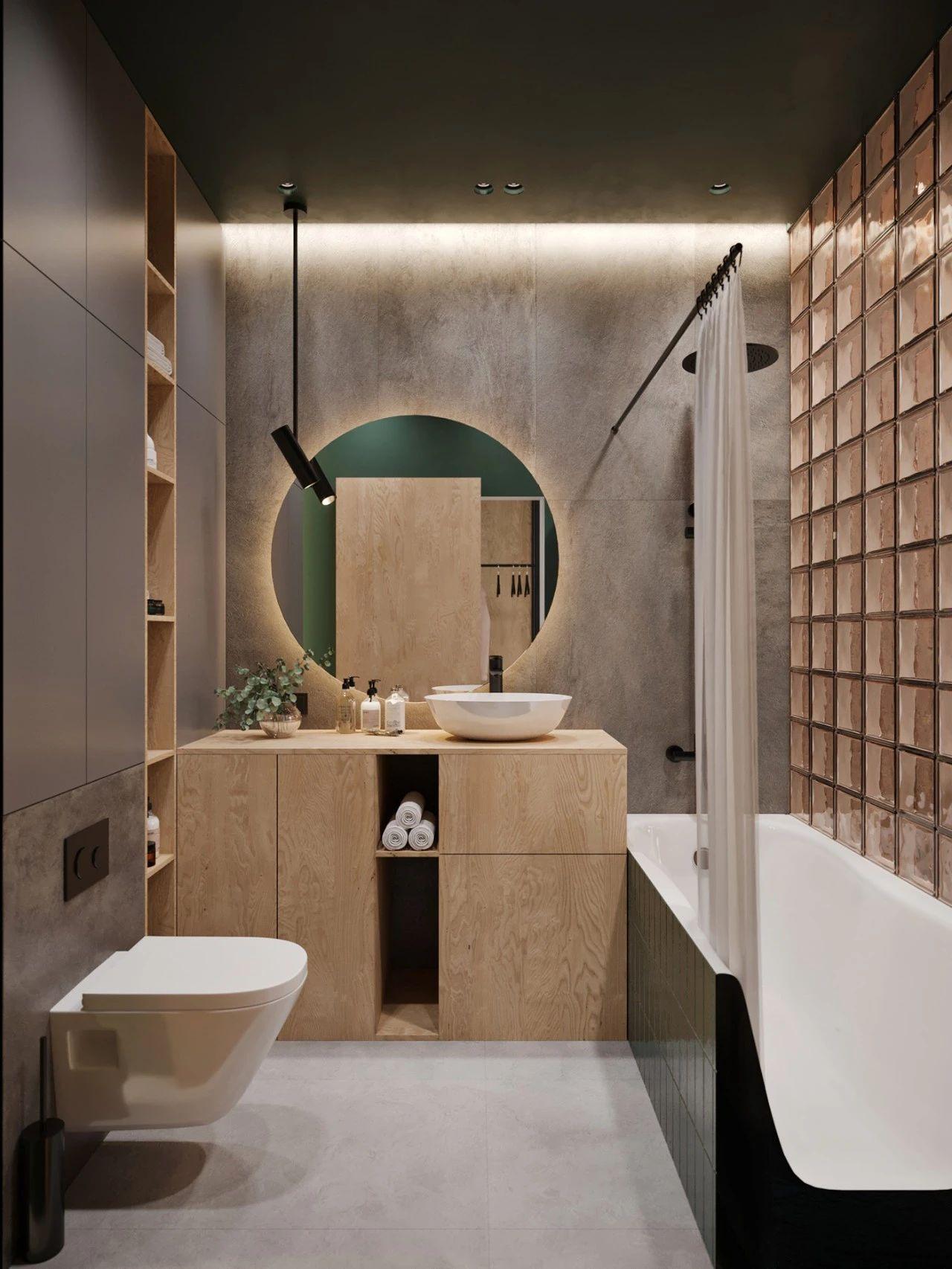 36㎡小公寓卫生间装修效果图