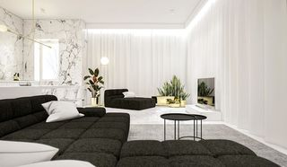 极简风公寓客厅装修效果图