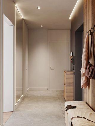 73平米公寓玄关装修效果图