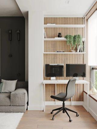 73平米公寓工作区装修效果图