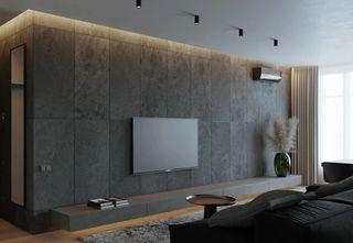 65㎡公寓电视墙装修效果图