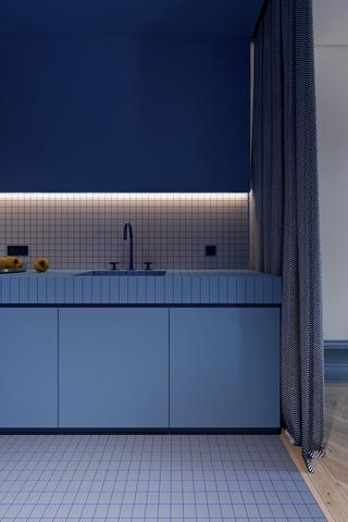 83平米公寓厨房装修效果图