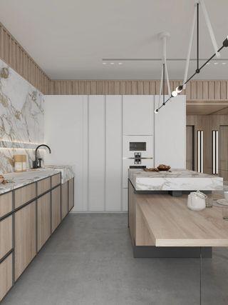 简约现代风格厨房装修效果图