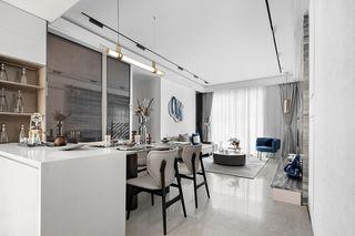 简约现代三居室客餐厅装修效果图