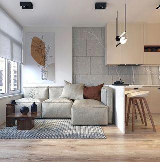 90㎡現代兩居裝修效果圖