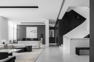 黑白簡約現代別墅裝修效果圖