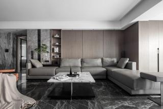 180平现代简约沙发背景墙装修效果图