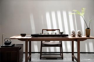 大户型现代简约装修茶室效果图