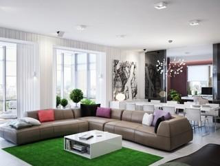 20万打造时尚现代公寓效果图