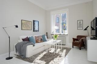 纯净北欧风格 一居小公寓效果图