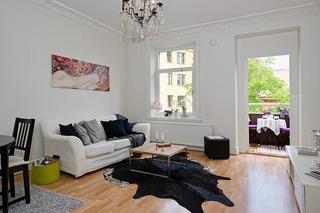 45平黑白北欧风单身公寓装饰