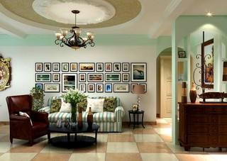 清新乡村美式客厅装饰效果图
