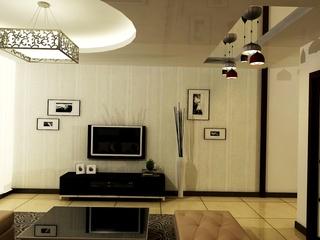 58平中性色简欧风 两室两厅样板房