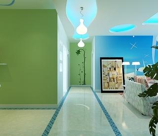 梦幻地中海风情 三室两厅美图欣赏