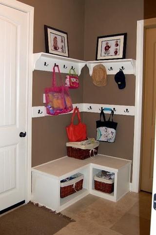 家居装修玄关鞋柜设计效果图