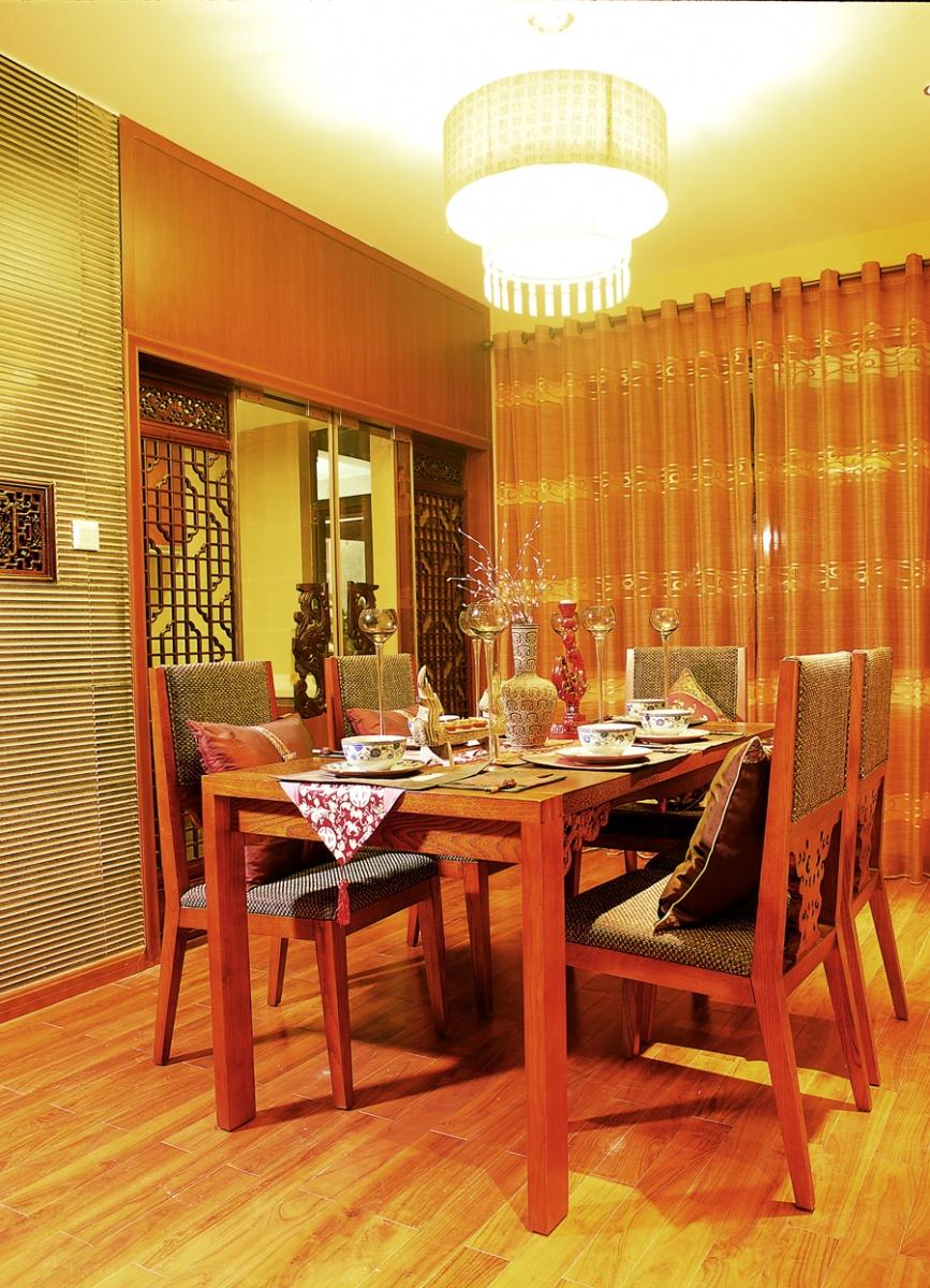 古典中式公寓红色家装效果图