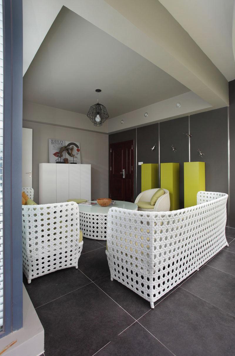 简约设计客厅吊顶效果图