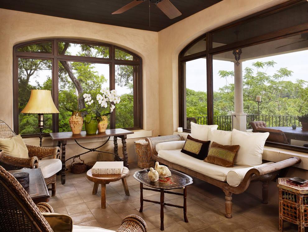 乡村古典美式客厅 拱形窗户效果图
