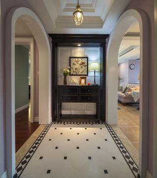 怀旧美式风格室内玄关柜装饰