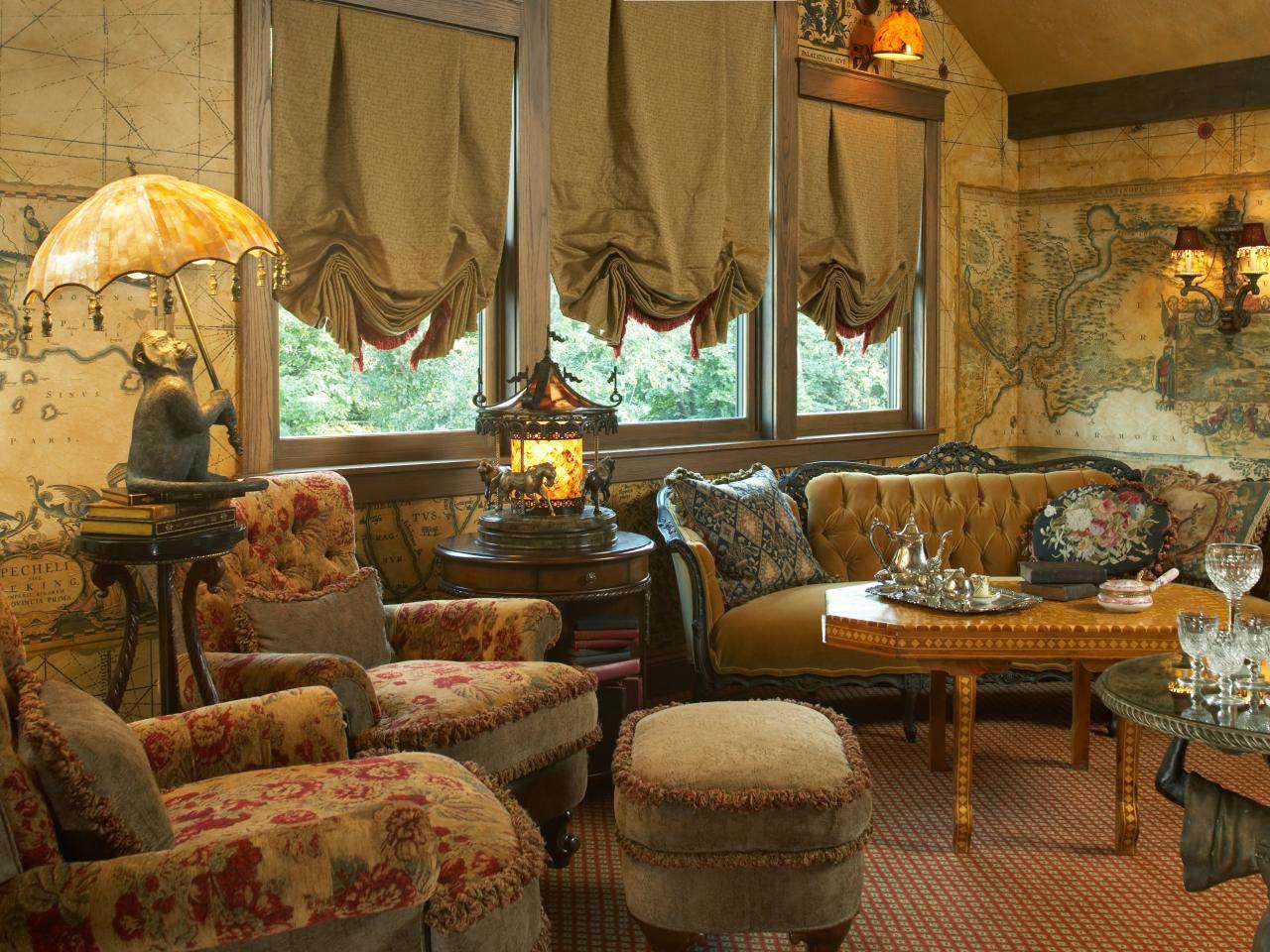 美式风格客厅局部家装效果图