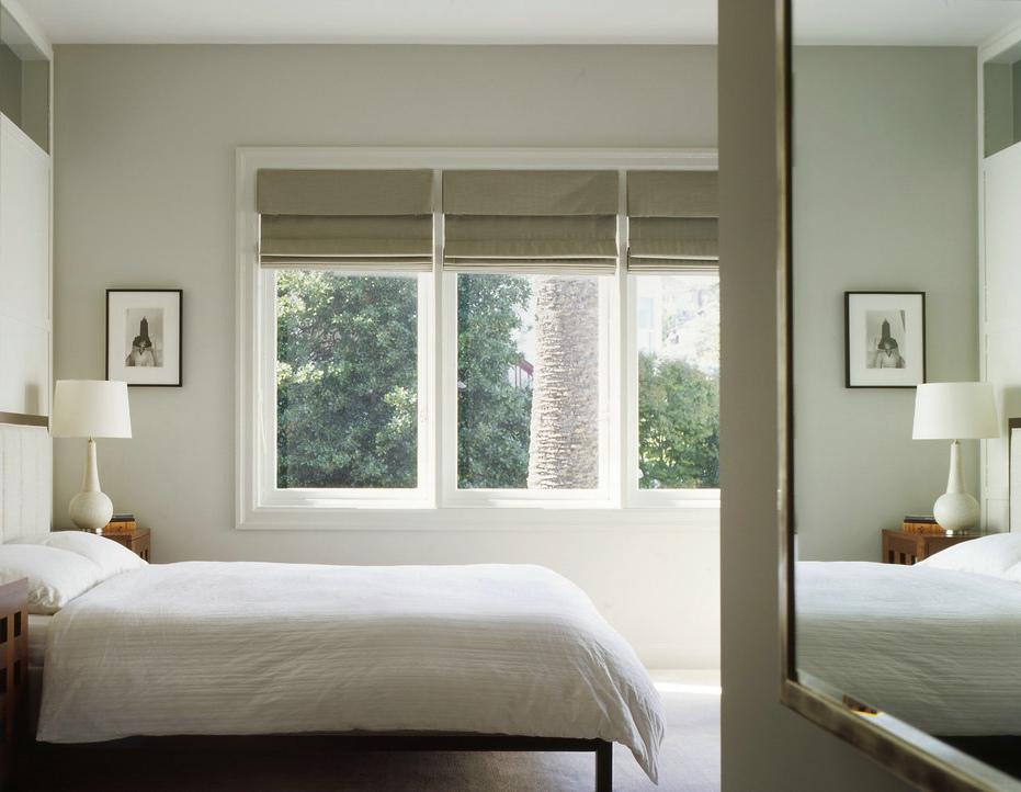 明亮简约风卧室窗户效果图