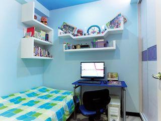 蓝色唯美简约现代儿童房设计